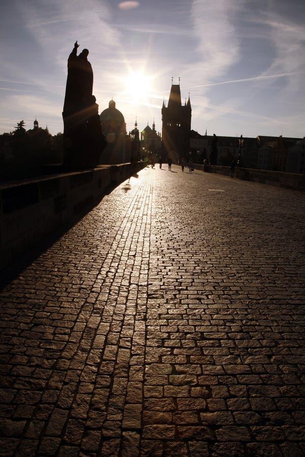 Charles Bridge In Prague Stock Images