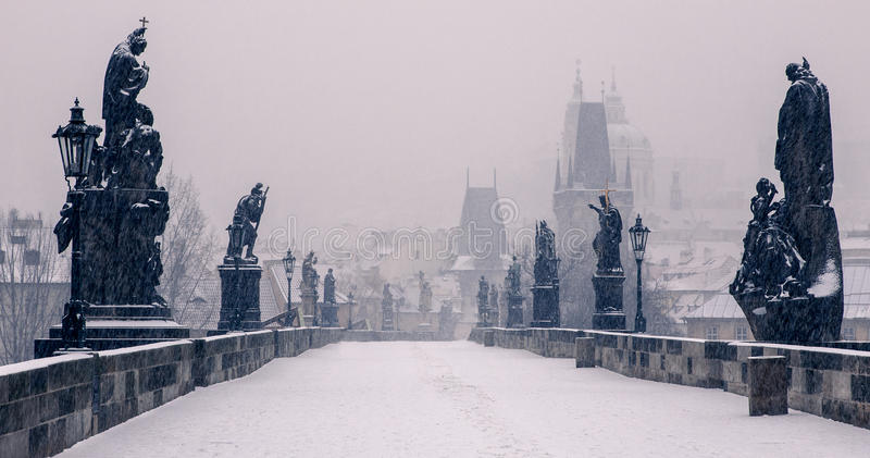 Charles Bridge, Prague image libre de droits