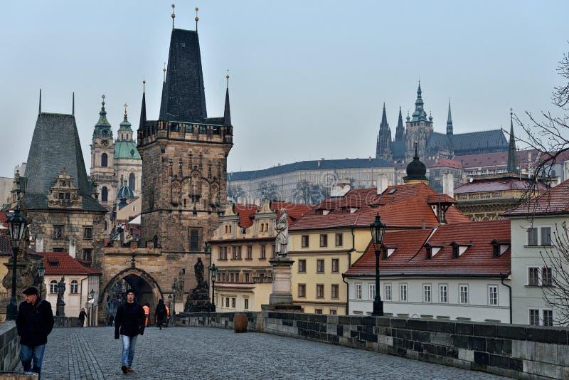 Charles Bridge, Prague photos stock