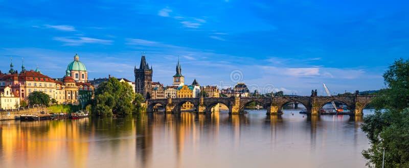 Charles Bridge Prague in Czech Republic. Charles Bridge Prague in Czech Republic royalty free stock photos