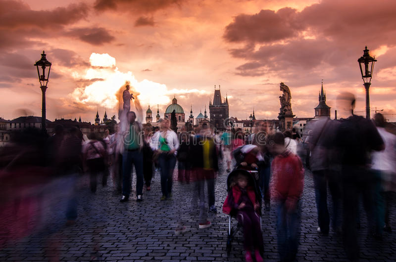 Charles Bridge Prague royalty free stock photos