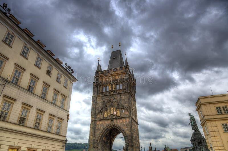 Charles Bridge Tower em Praga, República Checa imagem de stock royalty free