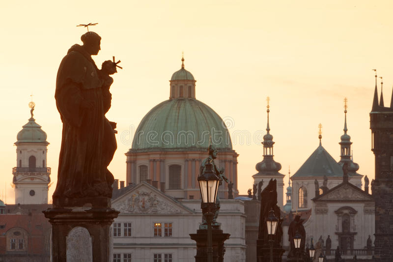 Download Charles Bridge, Towers Of The Old Town Stock Image - Image: 9978533