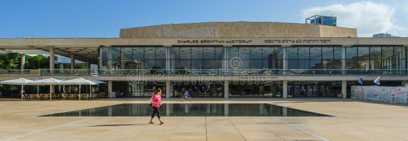 Charles Bronfman Auditorium é ficado situado em Tel Aviv, Israel foto de stock royalty free