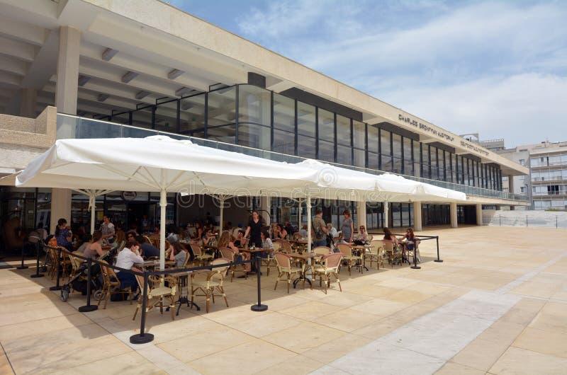 Charles Bronfman Auditorium i Tel Aviv - Israel fotografering för bildbyråer