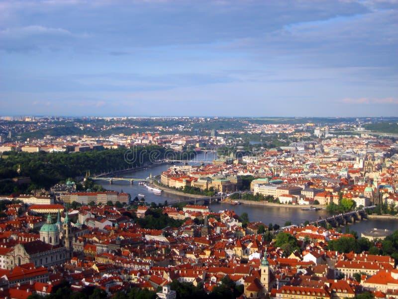 Charles-brug over Vltava-rivier stock afbeelding
