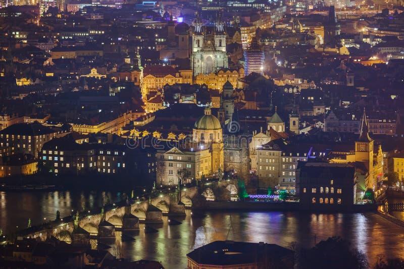 Charles-brug in Praag - Tsjechische Republiek royalty-vrije stock fotografie