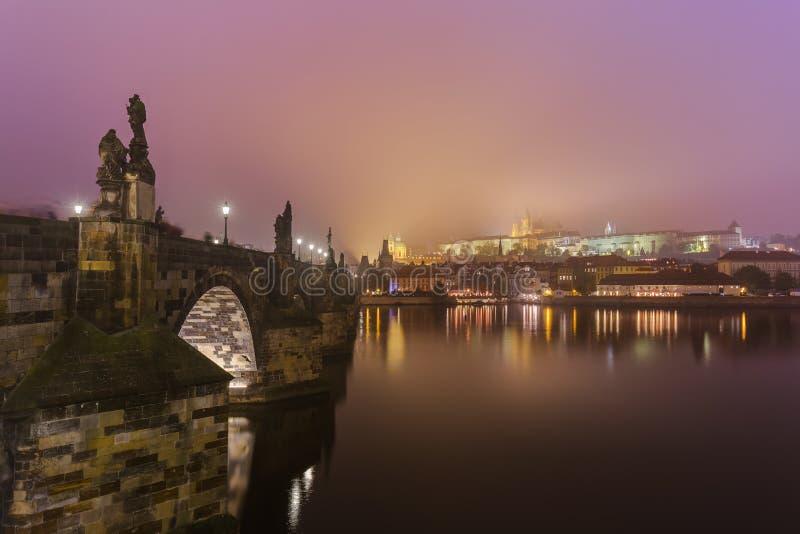 Charles-brug in Praag - Tsjechische Republiek stock afbeelding