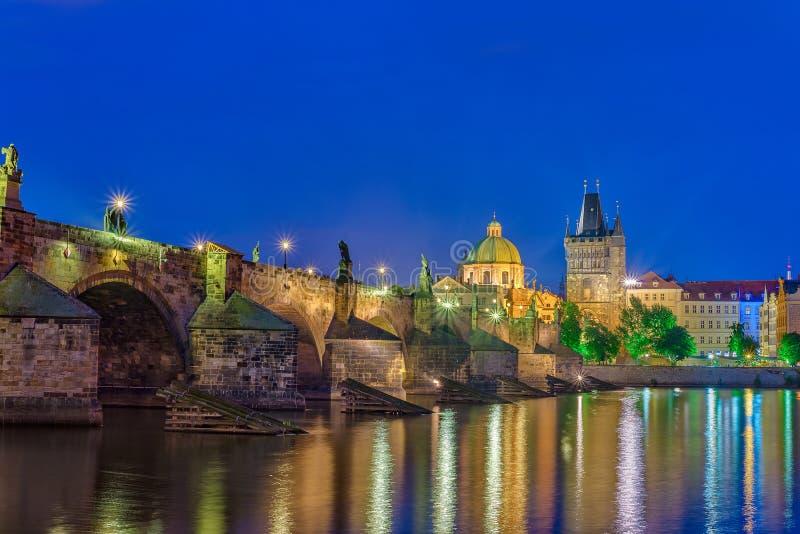 Charles-brug - Praag - Tsjechische republiek royalty-vrije stock foto