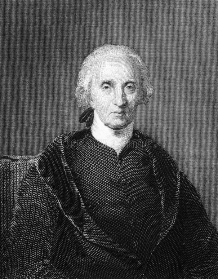 Charles Carroll of Carrollton. (1737-1832) on engraving from 1834. Wealthy Maryland planter and an early advocate of independence from the Kingdom of Great royalty free stock photos
