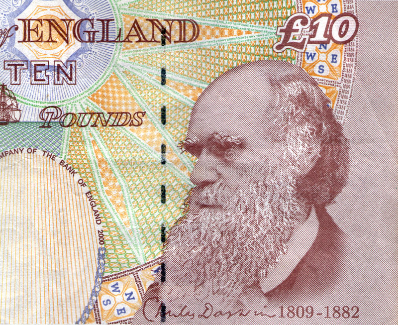 Charles Darwin stock photo