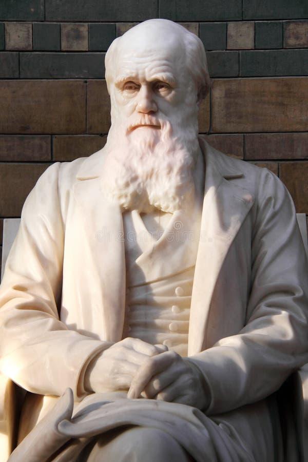 Charles Darwin staty fotografering för bildbyråer