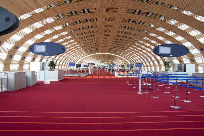 Charles de Gaule Airport arkivbilder