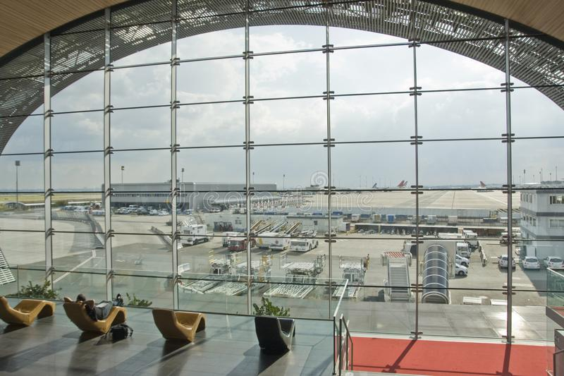 Charles de Gaule Airport royaltyfria foton
