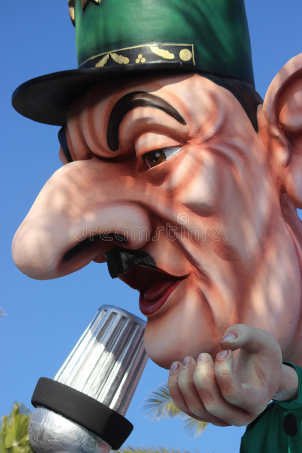 Charles de Gaulle Carnival of Nice. Nice, France - February 21 2016: Caricature of Charles de Gaulle. Charles de Gaulle was a French General and the Leader of stock photo