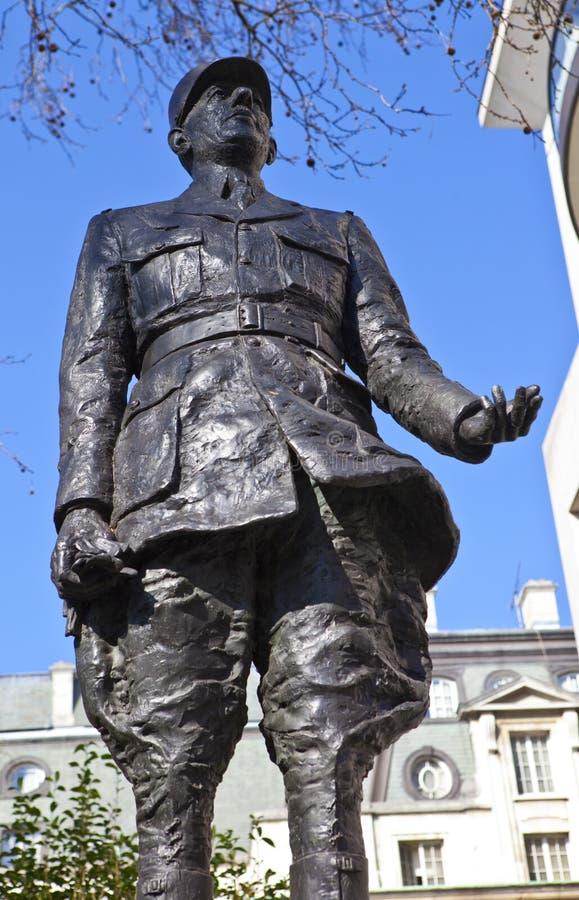Charles De Gaulle Statue à Londres photo libre de droits