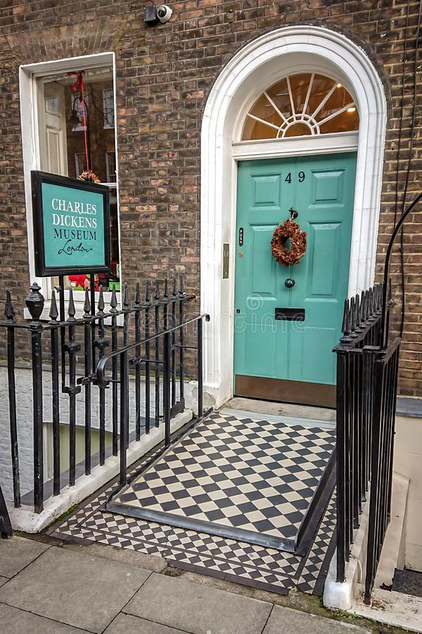 Charles Dickens Museum, Londres photo stock