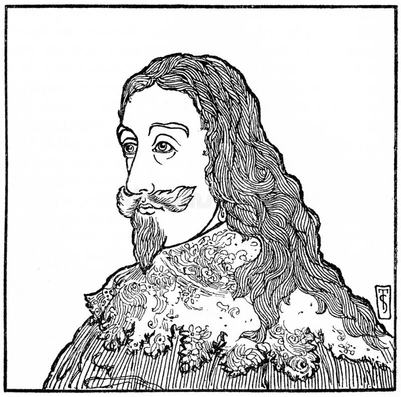 Charles I, re d'Inghilterra royalty illustrazione gratis