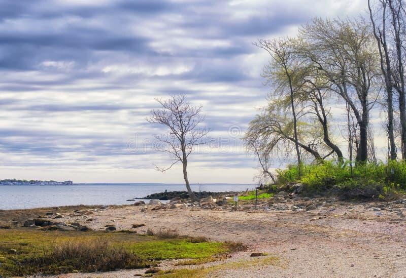 Charles Island Milford Connecticut lizenzfreie stockfotos