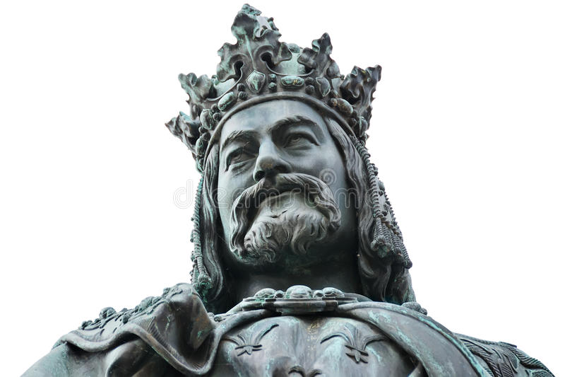 Charles IV άγαλμα βασιλιάδων στοκ εικόνες με δικαίωμα ελεύθερης χρήσης