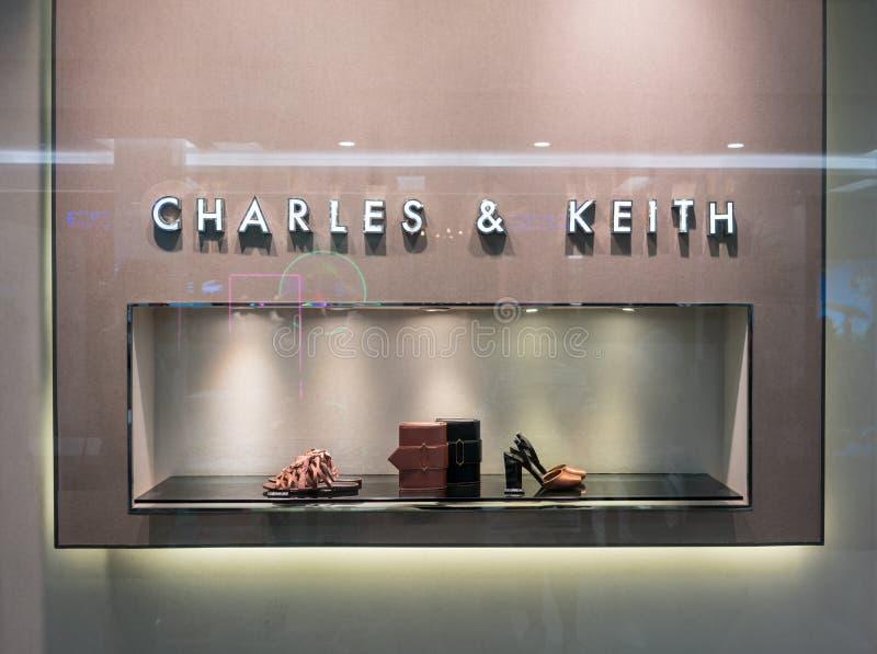 Charles and Keith shop at Fashion Island, Bangkok, Thailand, Mar royalty free stock image