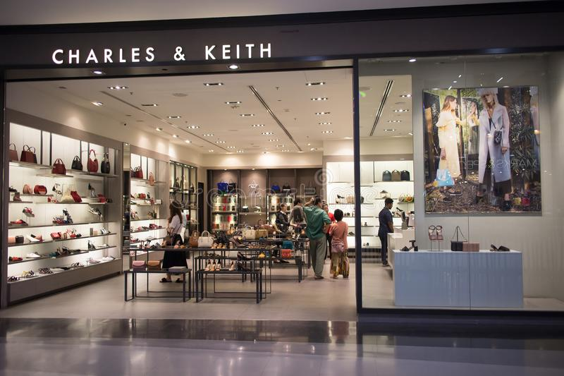 CHARLES & KEITH Shop inside Central Festival Chiangmai. stock image