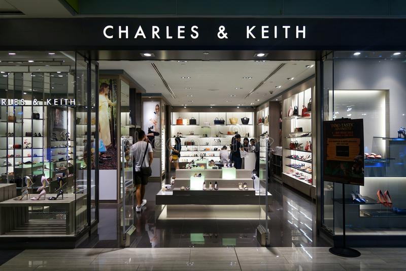 Charles & Keith store in Marina Square, Singapore stock photo