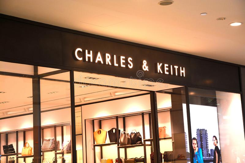 Charles & Keith Store Singapore stock photography