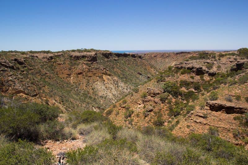 Charles Knife Canyon, parque nacional da escala do cabo foto de stock royalty free
