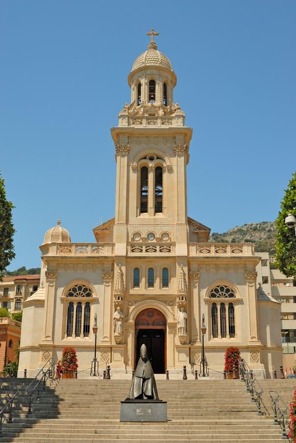 charles kyrklig monaco saint arkivfoto