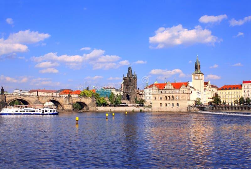 Charles most i Vltava rzeka, Praga, republika czech zdjęcia royalty free