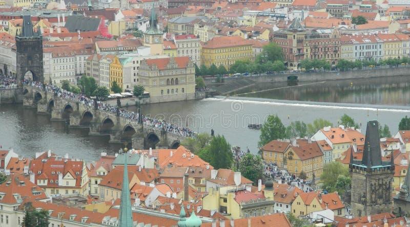 Charles most od St Vitus katedry, Praga, republika czech obrazy stock