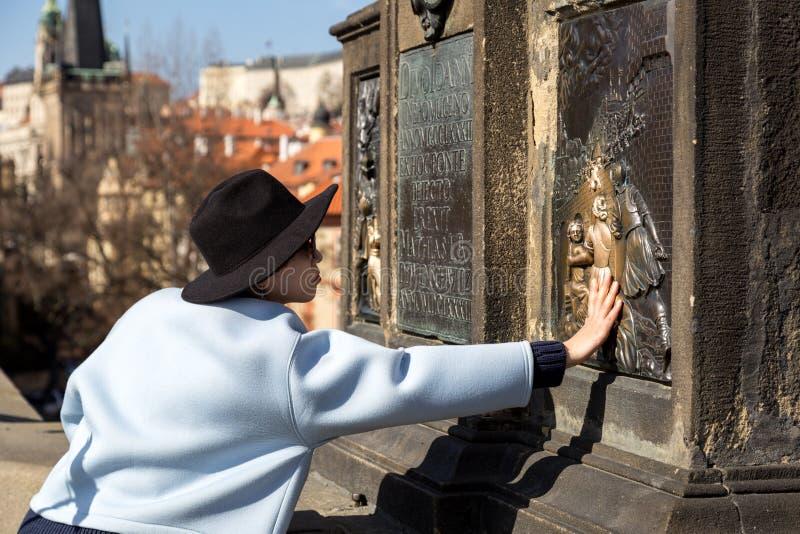 Charles most w Praga obraz stock