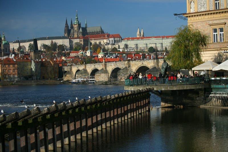 Charles most w Praga obrazy royalty free
