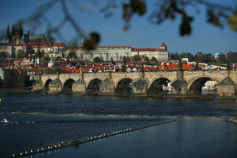 Charles most w Praga fotografia royalty free