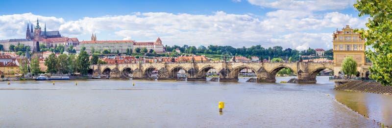 Charles mosta panorama obrazy royalty free