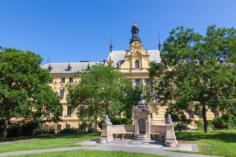 Charles Park dans la ville nouvelle de Prague photographie stock libre de droits