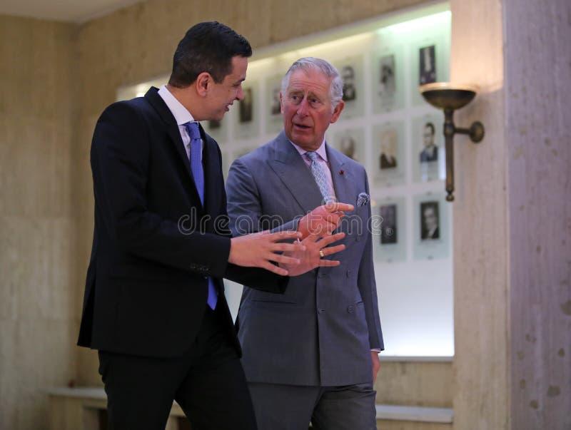 CHARLES, PRINS VAN WALES IN ROEMENIË, DAG 2 royalty-vrije stock afbeelding