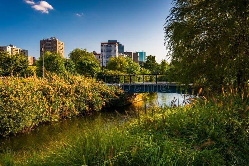 Charles River al parco di North Point a Boston, Massachusetts fotografia stock libera da diritti