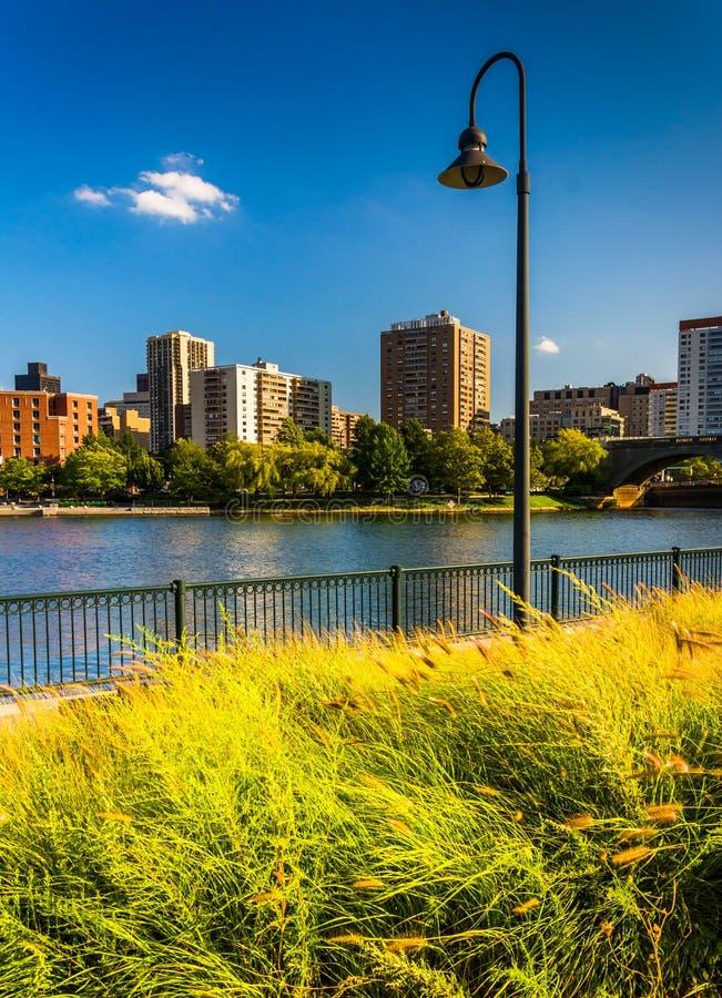 Charles River al parco di North Point a Boston, Massachusetts fotografia stock
