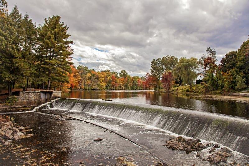 Charles River in autunno fotografia stock libera da diritti