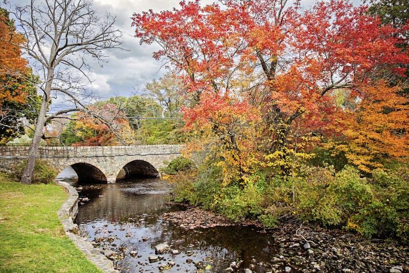 Charles River in autunno fotografia stock