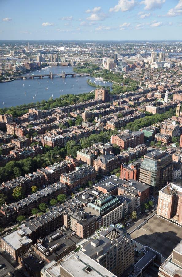 Charles River and Back Bay, Boston. Charles River and Back Bay apartment, Boston, Massachusetts, USA royalty free stock photography