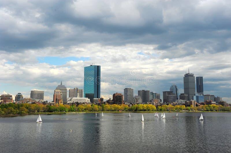 Charles River, Boston in de Lente royalty-vrije stock afbeeldingen