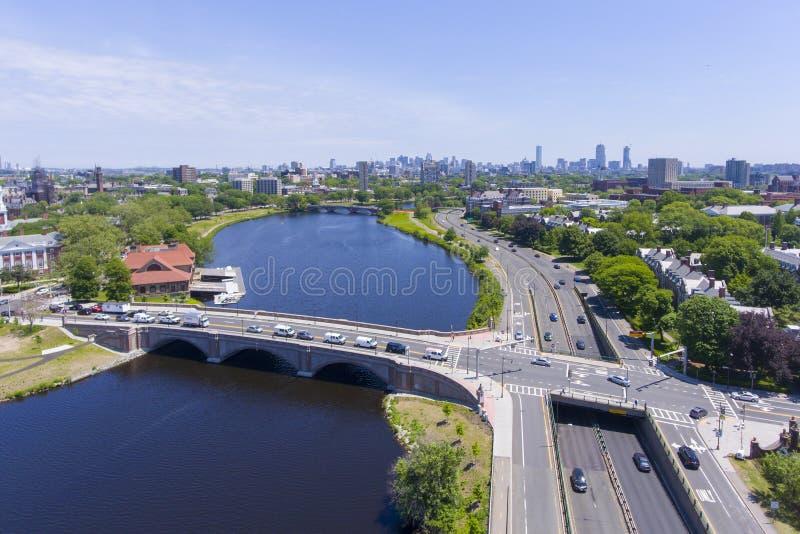 Charles River, Boston, le Massachusetts, Etats-Unis photographie stock libre de droits