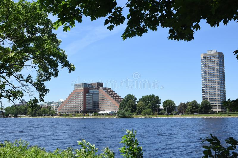Charles River, Boston, MOR arkivfoto