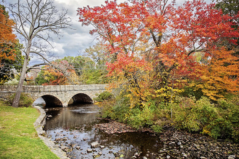 Charles River en otoño foto de archivo