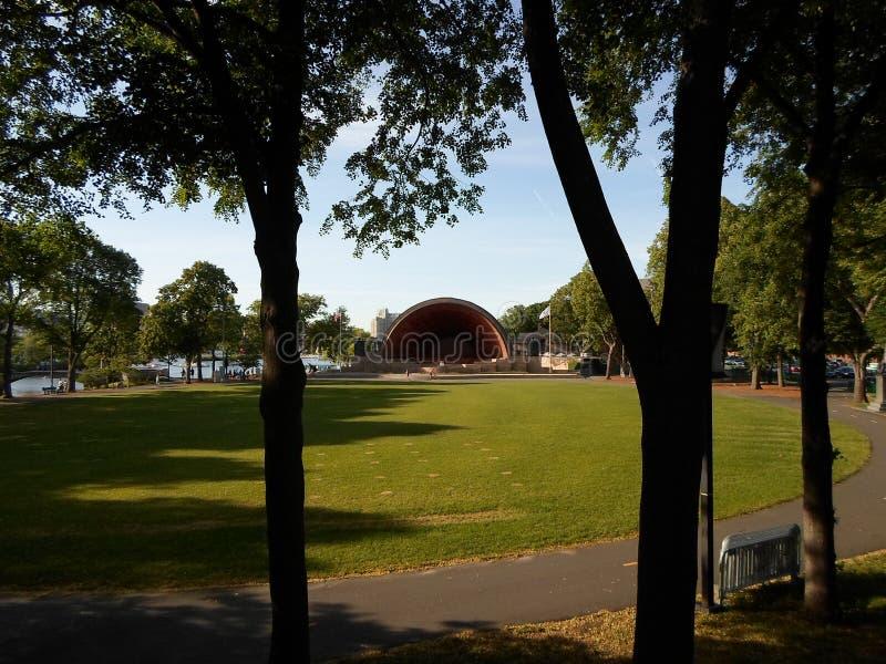 Charles River Esplanade, trappe Shell commémoratif, Boston, le Massachusetts, Etats-Unis images stock