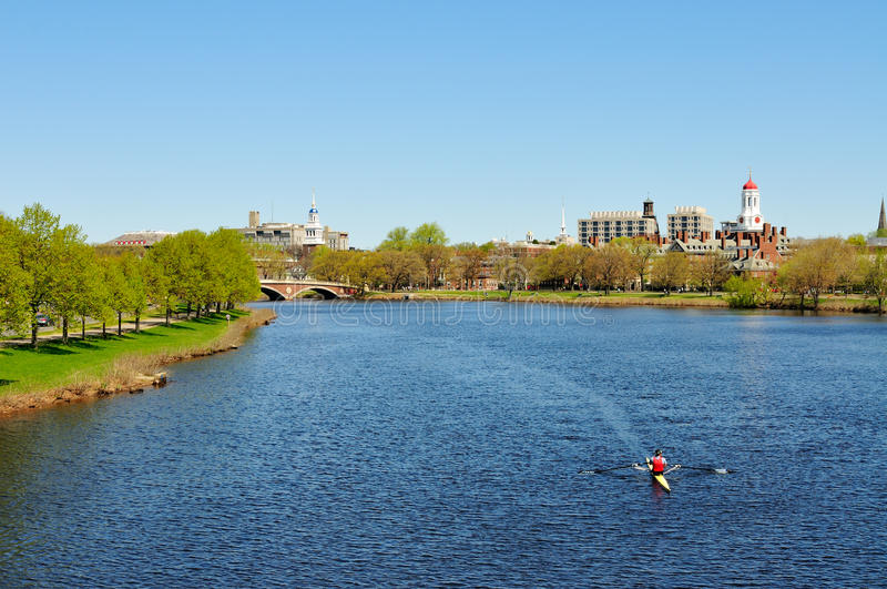 Charles River in the Spring royalty free stock photo