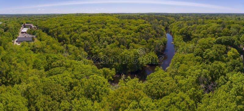Charles rzeka, Medway, Massachusetts, usa zdjęcia royalty free